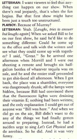 letterman bill murray